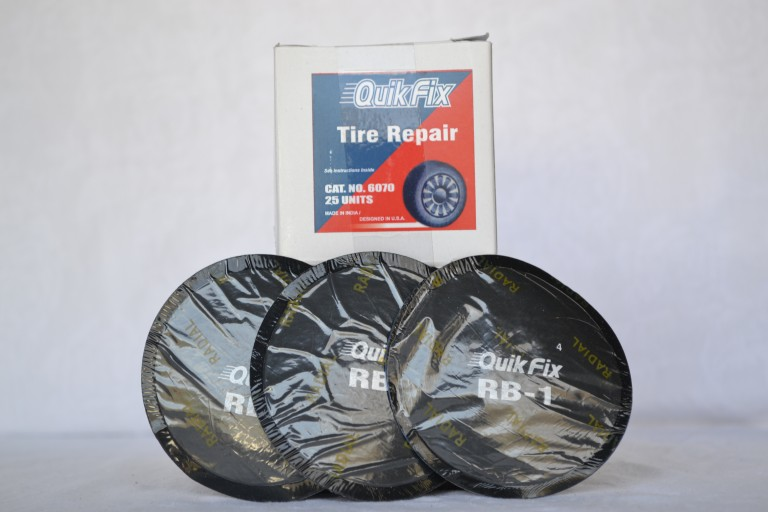 NEW QUIK FIX TIRE REPAIR  PATCH 25 PER BOX EQUAL   50 TOTAL ROUND PATCHES